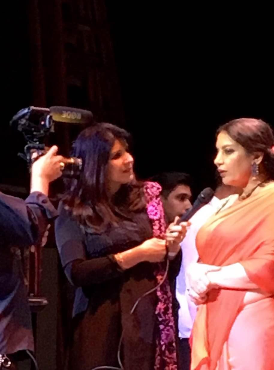 InterviewingShabana Azmi at Kaifi Aur Main play in San Antonio