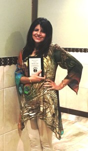 Seema Govil received the Selfless Service Award at the Hindus Charity for America, 2016