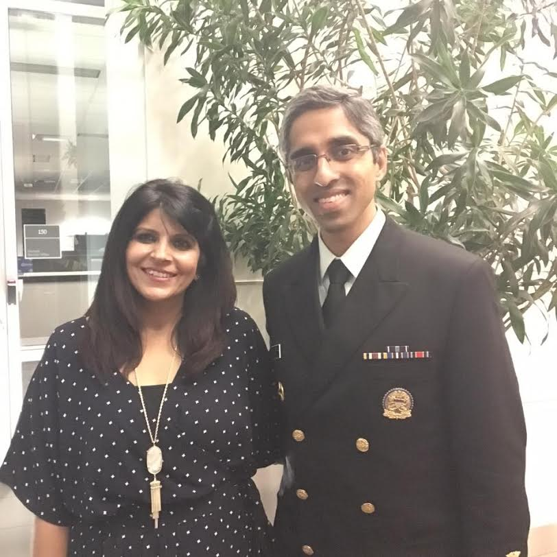 With Dr. Vivek Murthy, US Surgeon General during his talk on prevention of healthcare